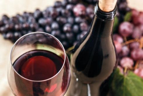 vin rouge grappe